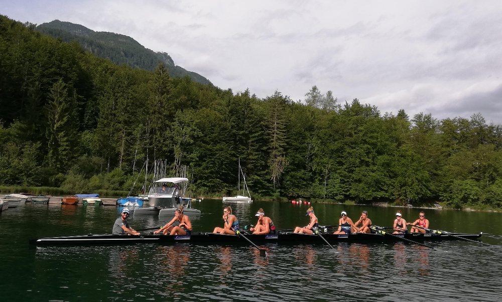 NZL womens rowing 8 Lake Bohinj